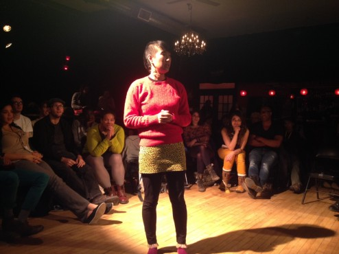 At the Underground Individual Poetry Slam. Photo by Lishai.