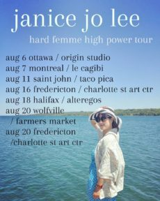 Checkin out the east side! Full deets on my website janicejolee.ca #hardfemmehighpowertour