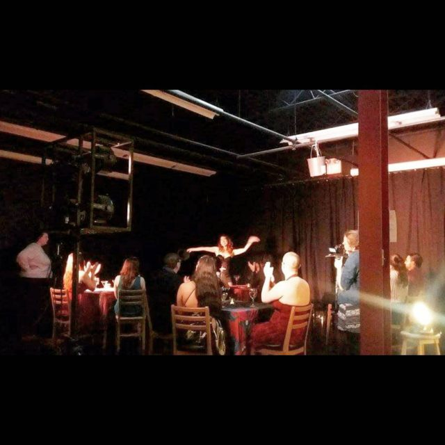Behind the scenes from our film shoot last night for ...